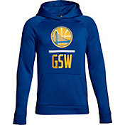 Under Armour Youth Golden State Warriors Royal Lockup Fleece Hoodie