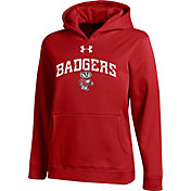Under Armour Youth Wisconsin Badgers Red Armour Fleece Hoodie