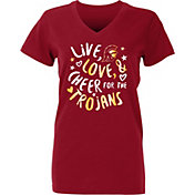 USC Authentic Apparel Youth Girls' USC Trojans Cardinal Knoll T-Shirt