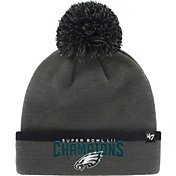 '47 Men's Super Bowl LII Champions Philadelphia Eagles Baraka Grey Knit