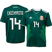 adidas Youth Mexico Javier 'Chicharito' Hernandez #14 Stadium Home Replica Jersey