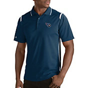 Antigua Men's Tennessee Titans Merit Navy Xtra-Lite Polo