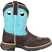 Durango Kids' Lil Rebel Brown Turquoise Western Boots