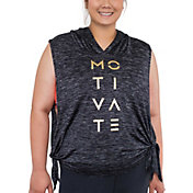Beachbody Women's Plus Size Energy Barcode Crop Hoodie