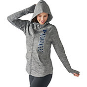 G-III For Her Women's West Virginia Mountaineers Grey Defender Full-Zip Hoodie