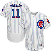 Majestic Men's Authentic Chicago Cubs Yu Darvish #11 Flex Base Home White On-Field Jersey