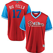 Majestic Men's Philadelphia Phillies Rhys Hoskins 'Big Fella' MLB Players Weekend Jersey