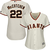Majestic Women's Replica San Francisco Giants Andrew McCutchen #22 Cool Base Home Ivory Jersey