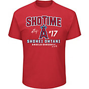 "Majestic Youth Los Angeles Angels Shohei Ohtani ""ShoTime"" Red T-Shirt"