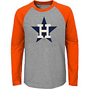 Majestic Youth Houston Astros Glory Days Raglan Long Sleeve Shirt