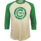 Majestic Threads Men's Chicago Cubs St. Patrick's Day Raglan Three-Quarter Shirt
