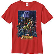 Fifth Sun Boys' Marvel Avengers Infinity Wars Overload Poster Graphic Tee