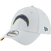 New Era Men's Los Angeles Chargers Sideline Training Camp 39Thirty Grey Stretch Fit Hat