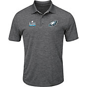 NFL Men's Super Bowl LII Bound Philadelphia Eagles End Zone Rush Charcoal Polo