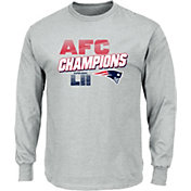 NFL Men's AFC Conference Champions New England Patriots Wonderstruck Grey Long Sleeve Shirt