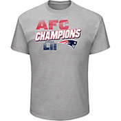 NFL Men's AFC Conference Champions New England Patriots Wonderstruck Grey T-Shirt