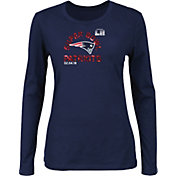 NFL Women's Super Bowl LII Bound New England Patriots Go To Championship Navy Long Sleeve Shirt