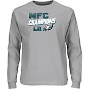 NFL Youth NFC Conference Champions Philadelphia Eagles Wonderstruck Grey Long Sleeve Shirt