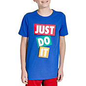 Nike Boys' Dry Just Do It Tape Graphic Tee