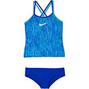 Nike Girls' Rush Heather Spider Back Tankini Set