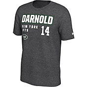 Nike Men's New York Jets Sam Darnold #14 Marled Grey T-Shirt