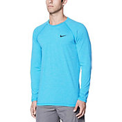 Nike Men's Heather Long Sleeve Hydro Rash Guard