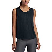 Nike Women's Graphic Muscle Crop Tank Top