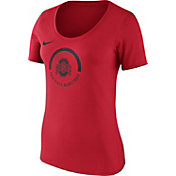 Nike Women's Ohio State Buckeyes Scarlet Basketball Verbiage T-Shirt
