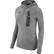 Nike Women's Purdue Boilermakers Grey Element Dry Quarter-Zip Hoodie