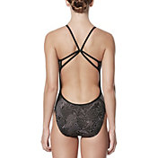 Nike Women's Geo Alloy Cut Out V-Back Swimsuit