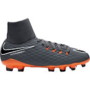 Nike Kids' Hypervenom Phantom 3 Academy Dynamic Fit FG Soccer Cleats