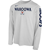 Nike Youth Virginia Cavaliers 'Wahoowa' Bench Legend Long Sleeve White T-Shirt