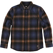 O'Neill Boys' Dillishaw Flannel Long Sleeve Shirt