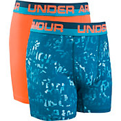 Under Armour Boys' Halftone Wordmark Boxers – 2 Pack