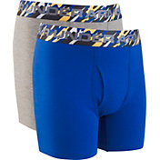 Under Armour Boys' Solid Cotton Boxers – 2 Pack