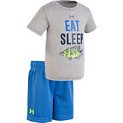 03d61d5b Under Armour Infant Boys' Eat Sleep Fish T-Shirt/Short Set