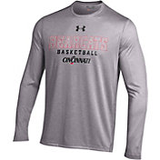 Under Armour Men's Cincinnati Bearcats Grey Tech Long Sleeve Performance Basketball Shirt